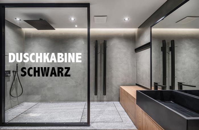 Schwarze Duschkabine - Dusche Schwarz Industrial Style