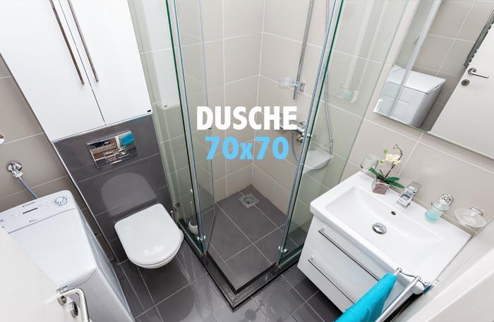 Duschkabine 70x70 cm