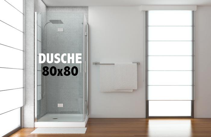 Duschkabine 80x80 - Dusche 80x80 cm